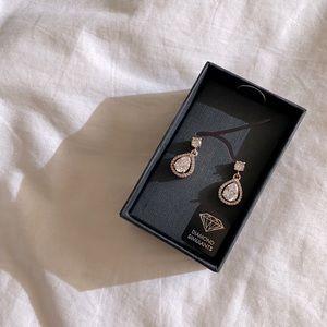 LOVISA Diamond Simulants Tear Drop Earrings